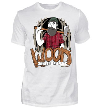 Herren Kurzarm T-Shirt Wood You Be Mine Ramirez