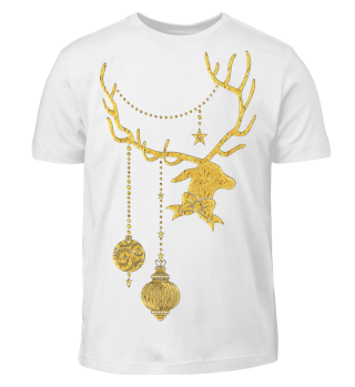 Christmas Deer with Ornaments IV