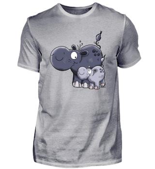 Funny Hippo Family - Hippos -