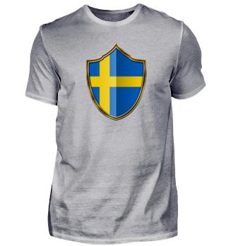 Schweden-Sweden Wappen Flagge 016