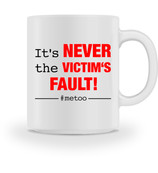 #metoo NEVER VICTIMS FAULT red
