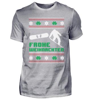Snowboard Snowboarding Shirt Weihnachten
