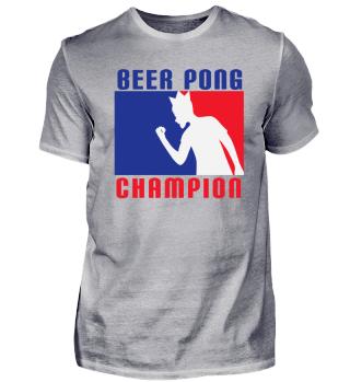 Geschenk Beerpong Champion Spruch Party