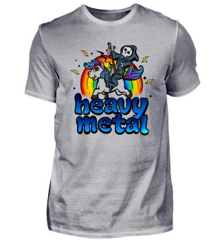 Heavy Metal Einhorn Pony Regenbogen