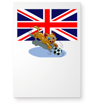 Great Britain soccer cat
