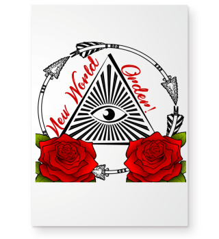 NEW WORLD ORDER AUGE TATTOO GESCHENK