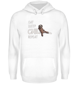 lazy sloth eat sleep chill repeat gift