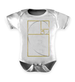 ★ Fibonacci Spiral - gold silver 1