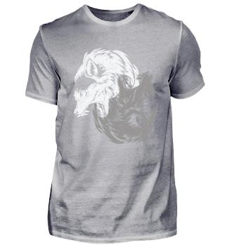 Das Yin und Yang der Wölfe für Wolf Fans