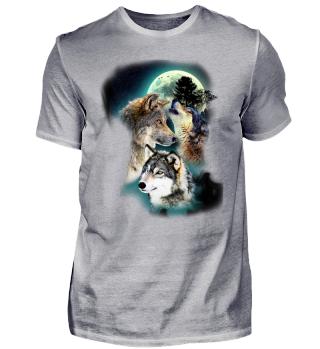 Wolf Wölfe Mond