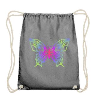 Hibiscus Butterfly zum Ausmalen - bunt