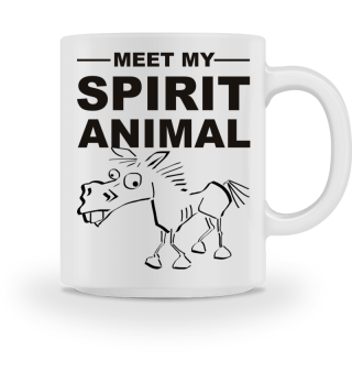 Meet Spirit Animal - mad horse - black