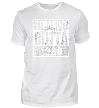 Straight Outta 1980 Funny Birthday Gift