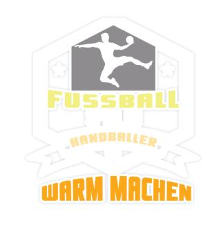 Play football Handball to warm up