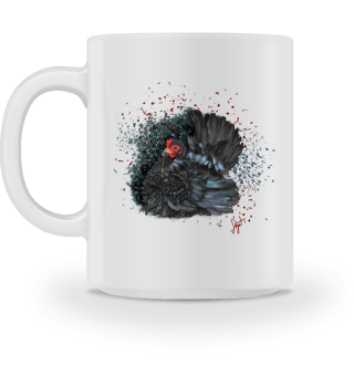 Chabo schwrz gelockt, black frizzled mug