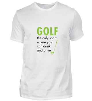 Golf, the only sport where you can drink