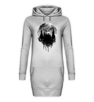 Hoody-Kleid Zerrinnender Traum schwarz