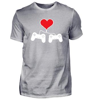 Tolles Gaming Shirt zum Valentinstag für