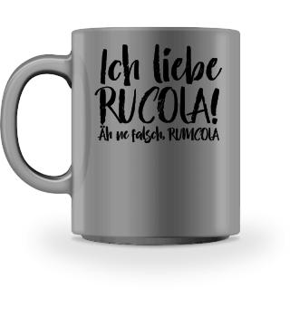 Ich liebe Rucola - schwarz