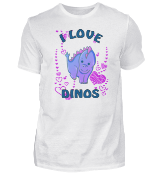 Heart symbol Dino Kids Dinosaur