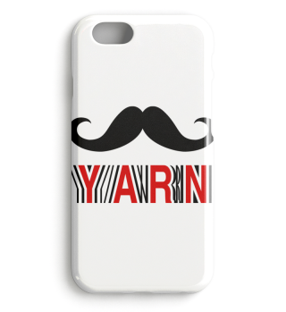 Moustache Yarn Knitter Iphone Cover