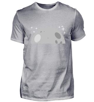 Mond mit Teleskop und Sternen