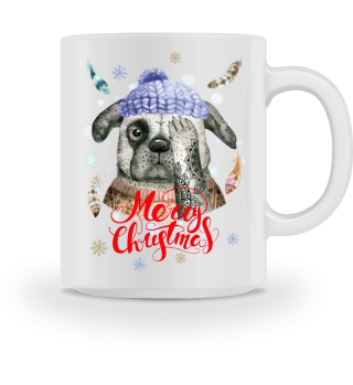 ☛ Merry Christmas · Boho Dog #11AT
