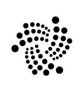 IOTA sticker black logo