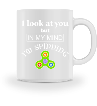 Fidget Spinner - I LOOK AT YOU - white