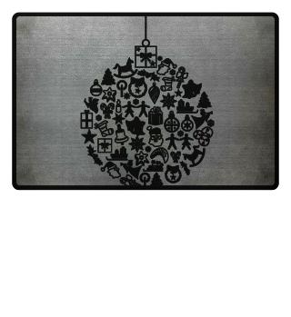 Icons Christmas Tree Ball - black