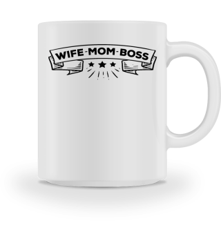 Wife Mom Boss Mothers Day Gift