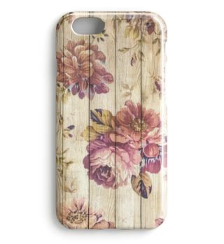 ★ Victorian Vintage Flowers On Wood 1a