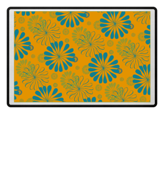 Abstraktes Blumen Muster VII