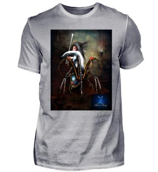 Spinnenfrau Silent Army mit Logo
