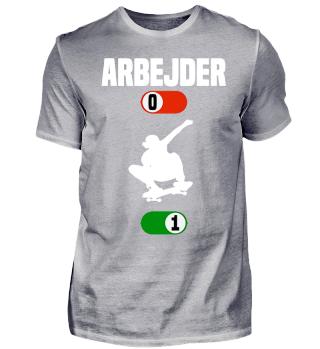 Arbejder Skateboard gave t-shirt