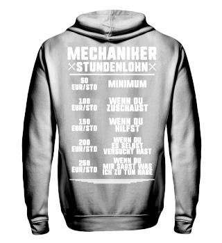 Der Lohn eines Mechanikers