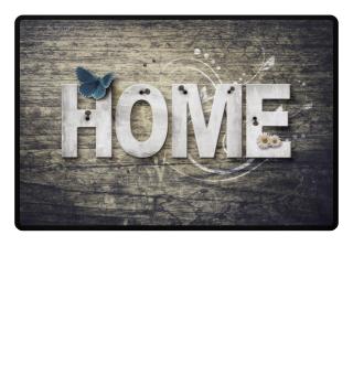 Wooden boards wall - HOME III Fußmatte