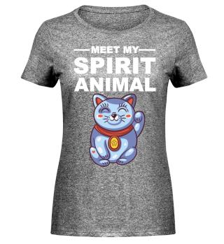 Meet Spirit Animal - Maneki-neko - white