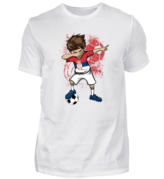 SERBIA Soccer Football Boy Dab