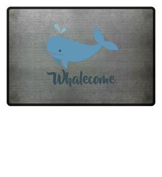 Fussmatte Whalecome