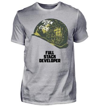 Funny programmer T-Shirt | Full Stack Developer - Born To Code|Tech T-shirt