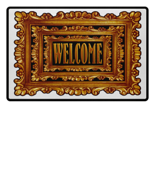 ★ Vintage Frame Mirror - welcome IV