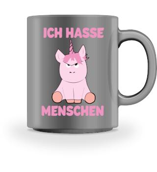 Ich Hasse Menschen Tasse Pink