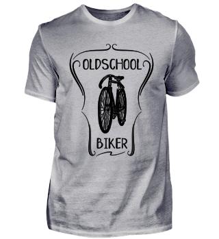 Oldschool Biker - altes Fahrrad Fahrer