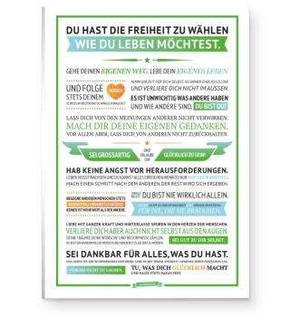 Glücksmanifest Poster (Grün)