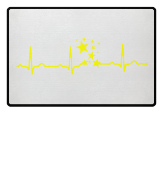 GIFT-ECG HEARTLINE STARS YELLOW