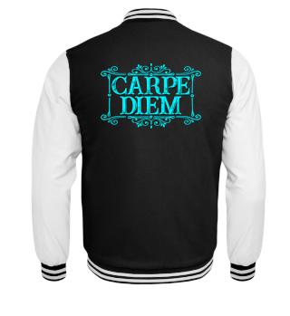 CARPE DIEM - vintage frame cyan T-Shirt