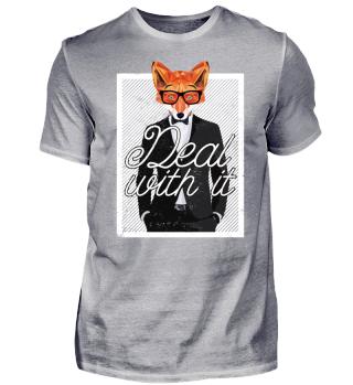 Cooler Fuchs Bär Spruch Komm Klar