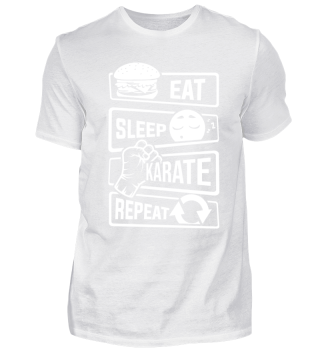 Eat Sleep Karate Repeat - Martial Arts