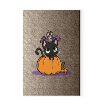 Kürbis Katze Fledermaus Halloween